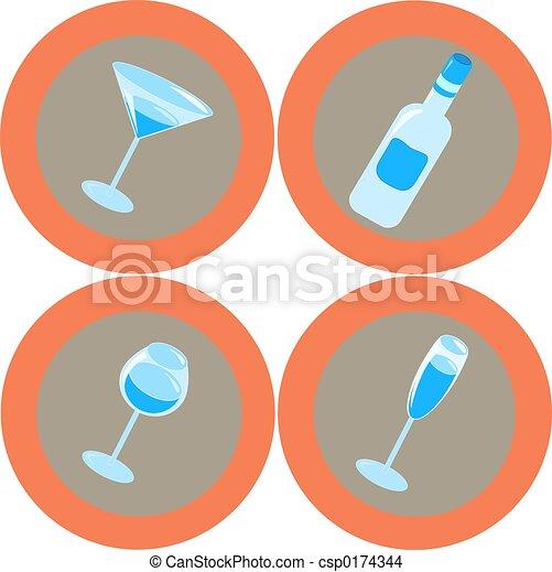 Alcohol icons 2 - csp0174344