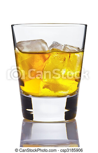 Alcohol in glass, game of light. - csp3185906