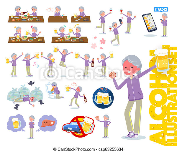 Una abuela de tipo plano Sportswear_alcohol - csp63255634