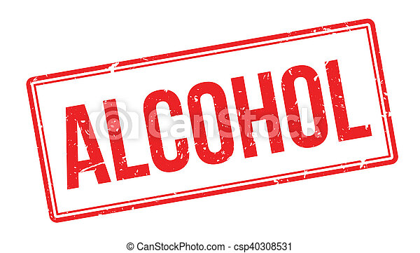 Alcohol rubber stamp - csp40308531