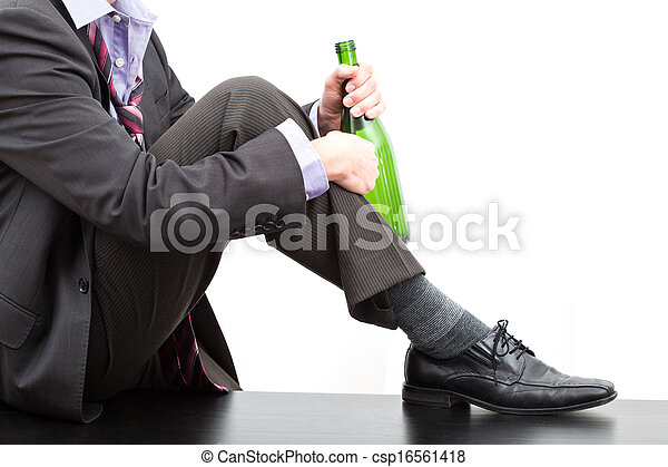 alcoholhoudend, fles, wijntje - csp16561418