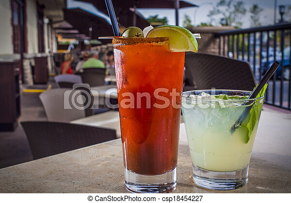 Alcoholic Cocktail in Restaurant Setting - csp18454227