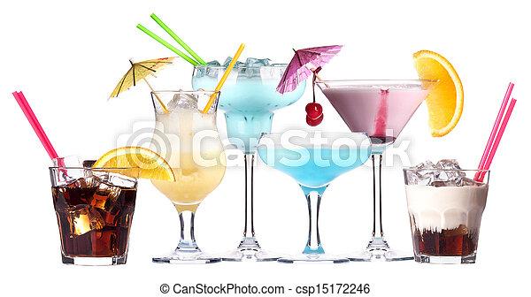 alcoholic cocktail set - csp15172246