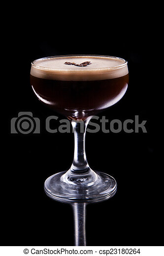 Alcoholic coffee cocktail - csp23180264