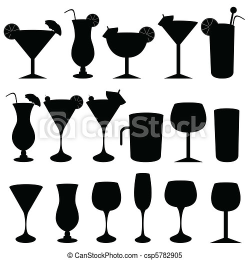 Alcoholic drinks and glasses - csp5782905
