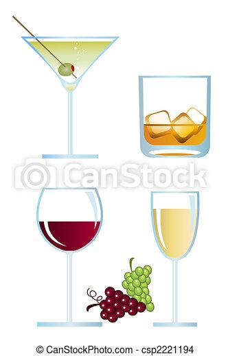 Alcoholic Drinks - csp2221194