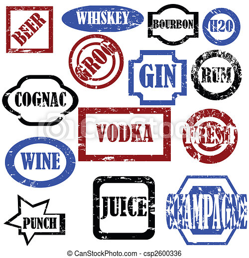 Alcoholic stamps - csp2600336