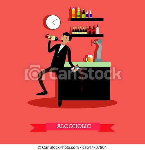 Alcoholic vector illustration in flat style - csp47707904