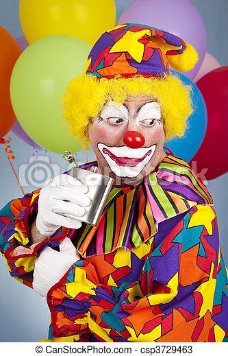 alcoolique, clown - csp3729463