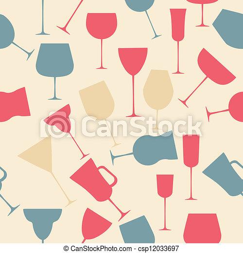 alcoolique, modèle, seamless, verre., fond, noir - csp12033697