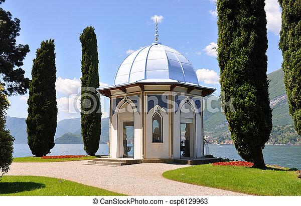 alcove, alps, architecture, bellagio, blue, city, coast, como, cypress, day, europe, european, famous, fascinating, garden, glamorous, grass, inviting, italian, italy, lake, landscape, lombardia, medi - csp6129963