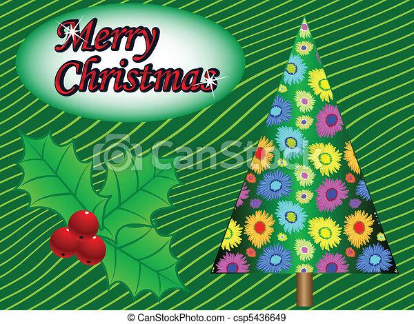 Feliz tarjeta de Navidad - csp5436649