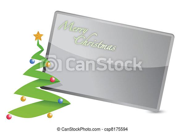 Feliz tarjeta de Navidad - csp8175594