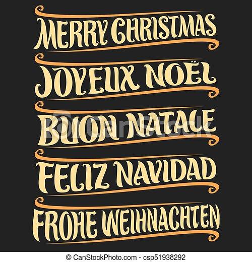 Feliz Navidad en otro idioma - csp51938292