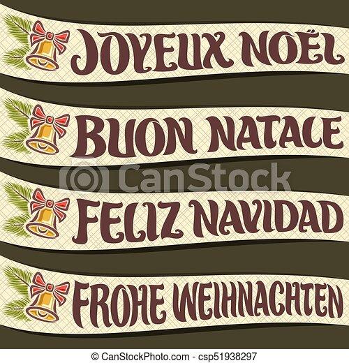 Feliz Navidad en otro idioma - csp51938297