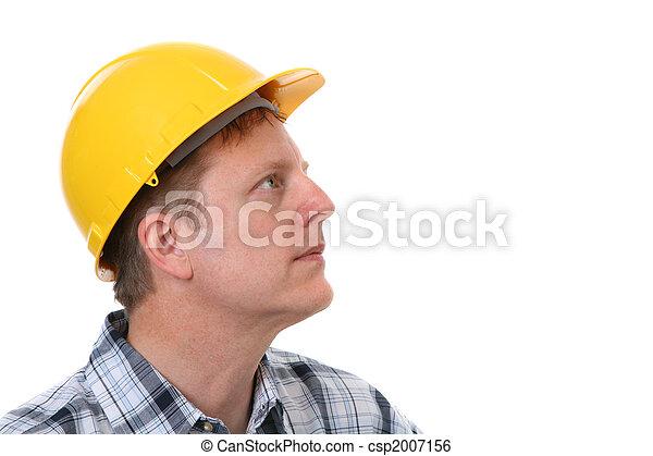 Retrato de obreros animados aislado - csp2007156