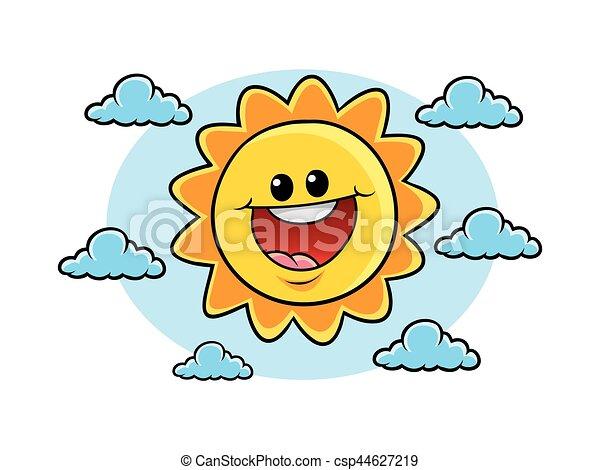 alegre, sol, personagem - csp44627219