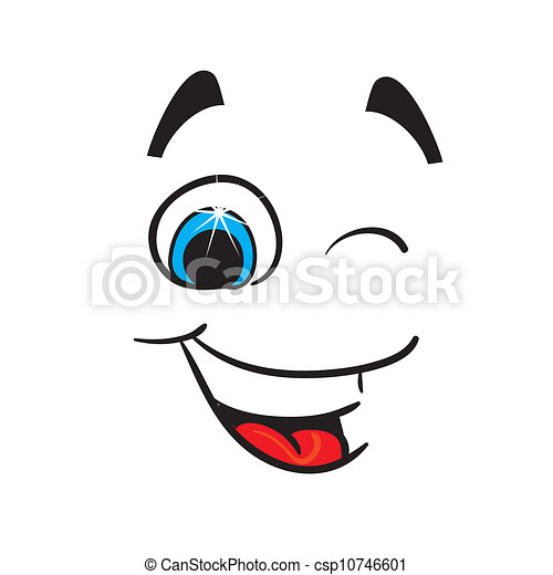 alegre, vetorial, caricature., ilustração - csp10746601