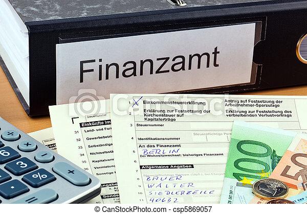 Devolución de los impuestos alemanes - csp5869057