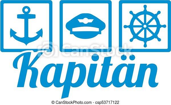 alemão, capitão, trabalho, ícones, título - csp53717122