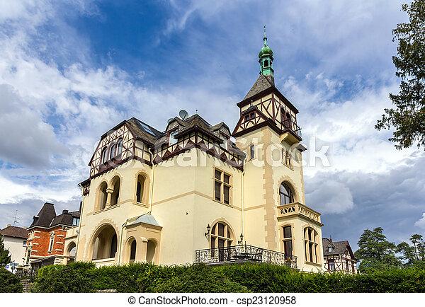 alemão, casa, koblenz, alemanha, clássicas - csp23120958