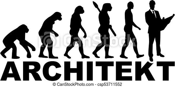 alemão, evolução, arquiteta, trabalho, título - csp53711552