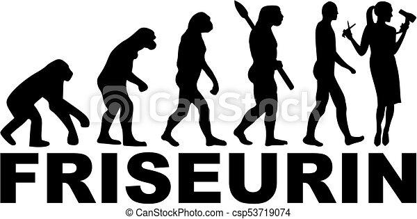 alemão, evolução, cabeleireiras, trabalho, título - csp53719074