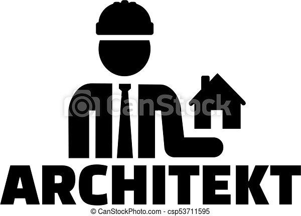 alemão, trabalho, ícone, arquiteta, título - csp53711595