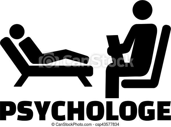 alemão, trabalho, ícone, psicólogo, título - csp43577834