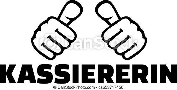 alemão, trabalho, caixa, polegares, título - csp53717458