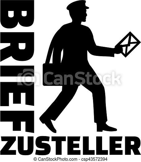 alemão, trabalho, carteiro, título - csp43572394