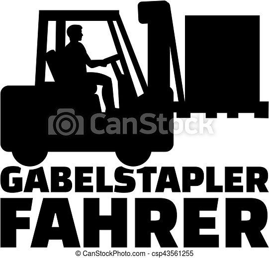 alemão, trabalho, forklift, motorista, título - csp43561255