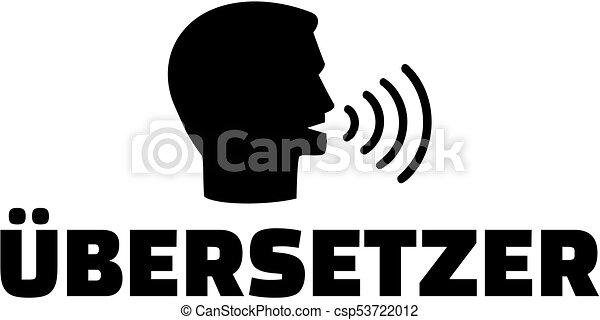 alemão, translator, trabalho, ícone, título - csp53722012