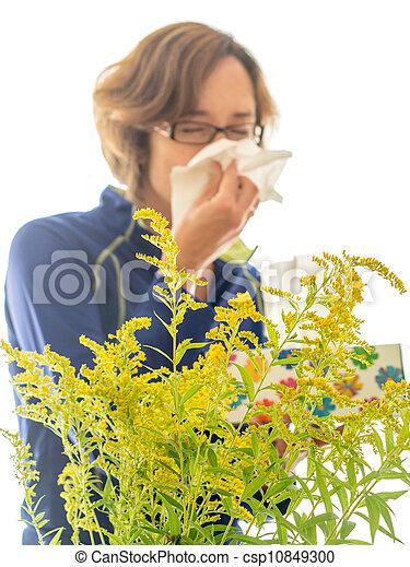 Sufridor de alergias - csp10849300
