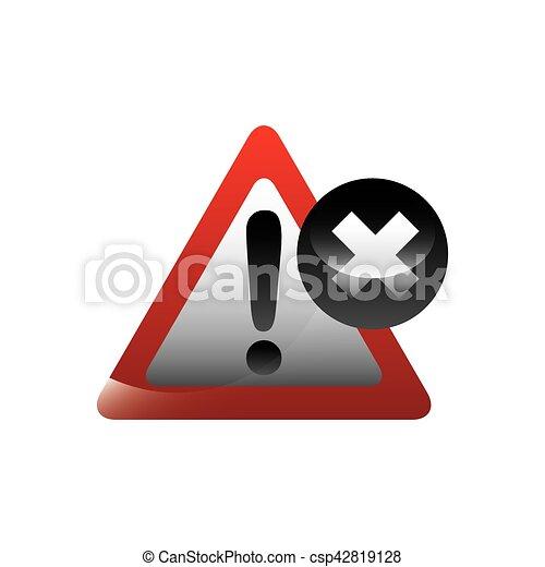 alert sign icon - csp42819128