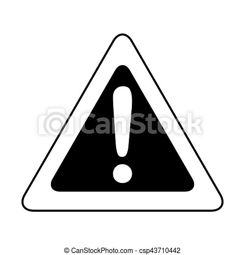 alert sign isolated icon - csp43710442