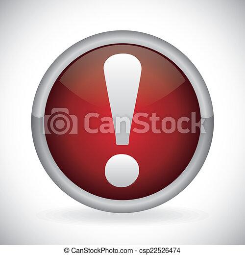 alert symbol design  - csp22526474