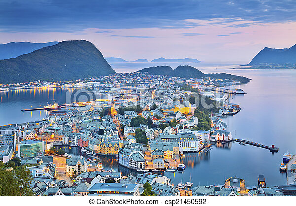 Alesund, Norway. - csp21450592
