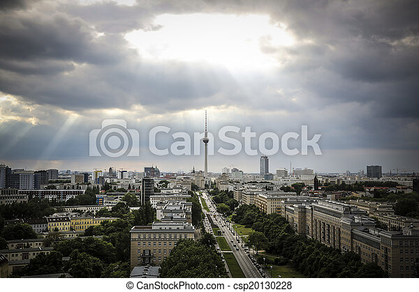 Alexanderplatz am Abend, Berlin - csp20130228