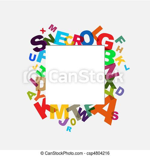 alfabet, achtergrond - csp4804216