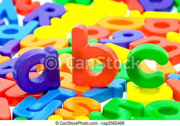 alfabet, brieven - csp2565468