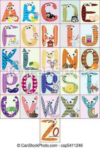 alfabet, cmyk - csp5411246