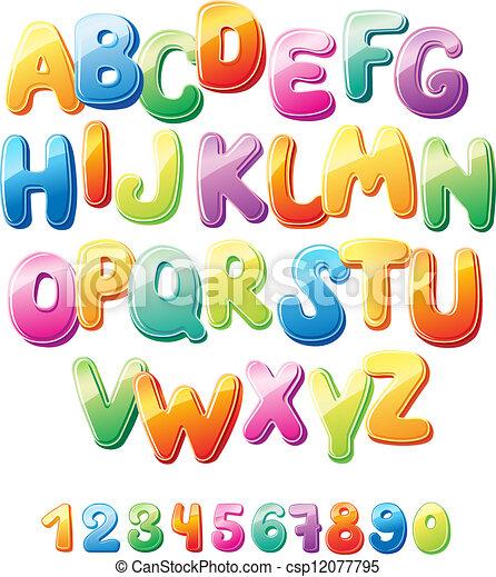 alfabet, getallen - csp12077795