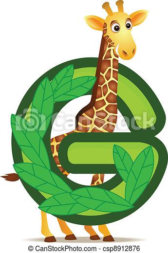 alfabet, giraffe, g - csp8912876