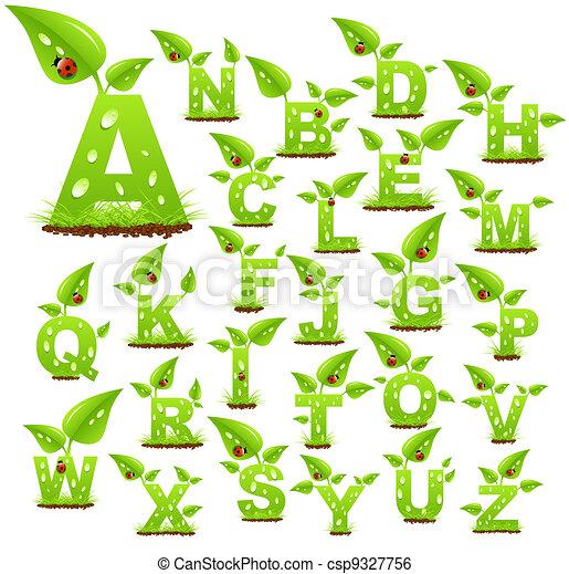 alfabet, natuur - csp9327756