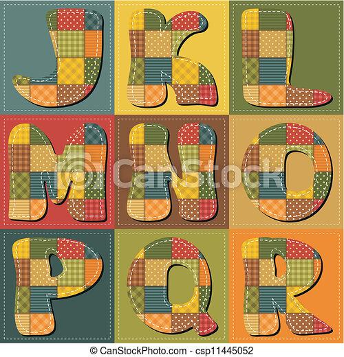 alfabet, plakboek, lapwerk - csp11445052