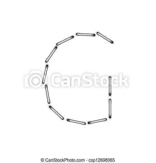 El alfabeto vector en un fondo blanco. Eps10 - csp12698065