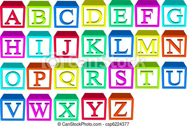 alfabeto bloqueia - csp6224377