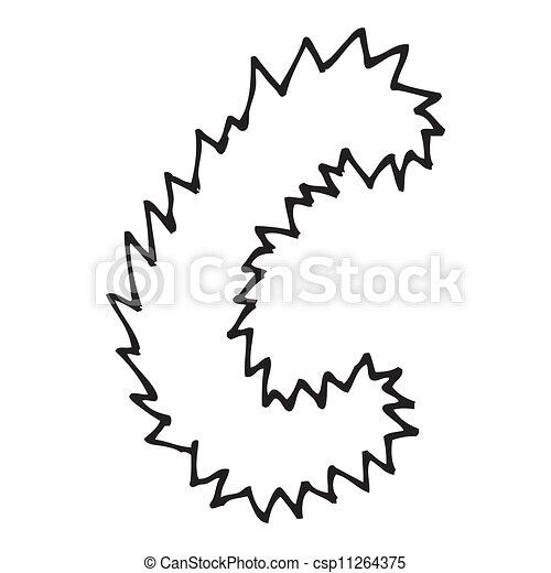 alfabeto c desenho letra mão c alfabeto mão ilustrações