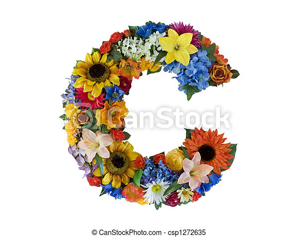 alfabeto, c, flor, - - csp1272635